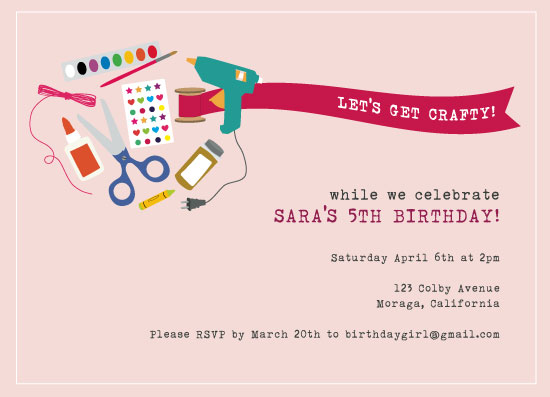 party invitations - Crafternoon by Bright Room Studio