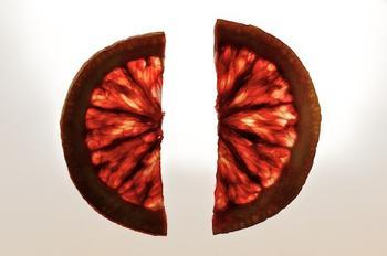 blood orange- two halves