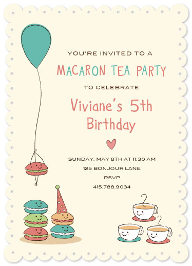 party invitations - Marvelous Macaroon's by Kimberly Schwede