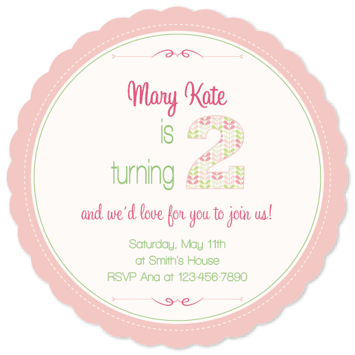 party invitations - Pink Girl by Maria Micaela Blanco