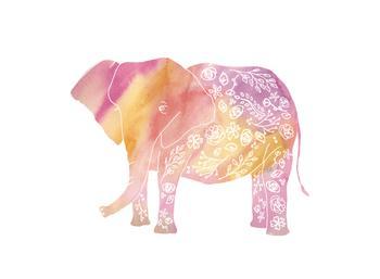 Tattooed Pink Elephant