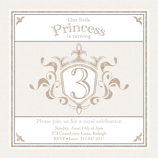 party invitations - Our little Princess by sg designs