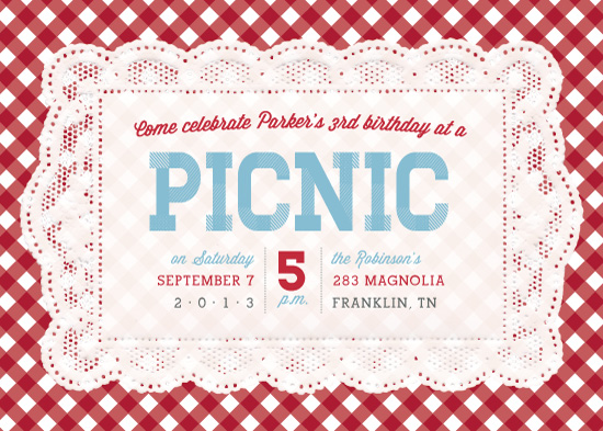 party invitations picnic placemat at minted com