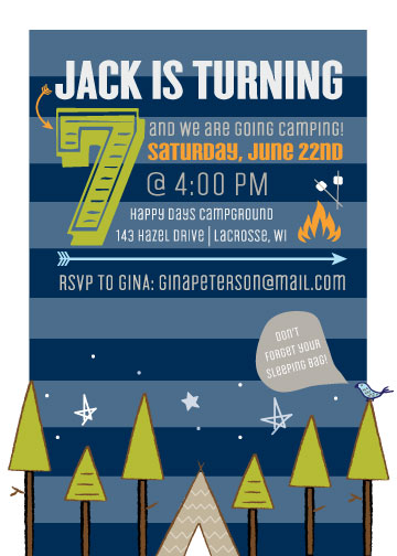 party invitations - Candles and Campfires by Ginger P Designs