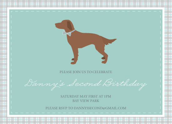 party invitations - Dapper Dog by Bright Room Studio