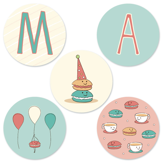 party decor - Marvelous Macaron's by Kimberly Schwede
