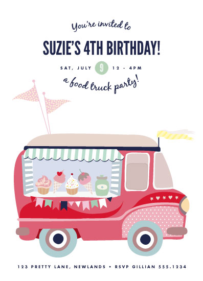 party invitations - Food Truck Party! by Phrosne Ras
