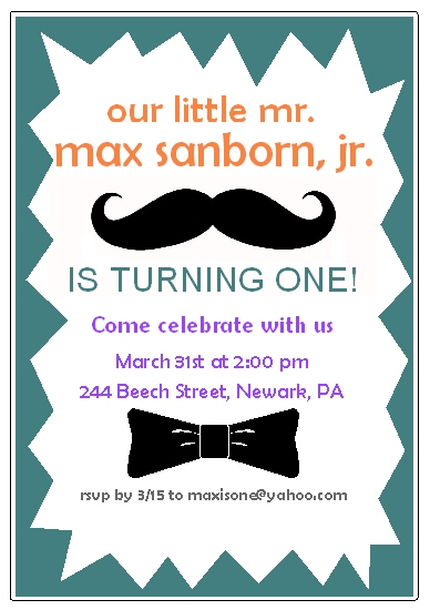 party invitations - Little Mister by Rose R.