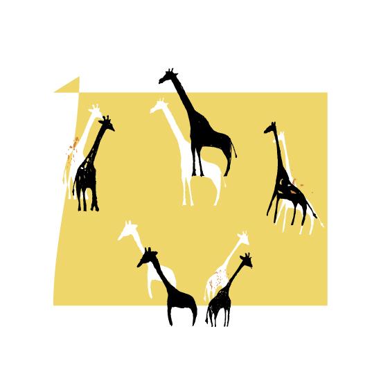 art prints - Giraffe Party by Kristine Hickcox