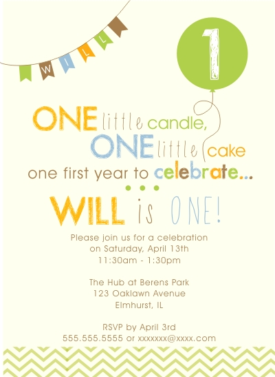 party invitations - One Little Candle by Kim