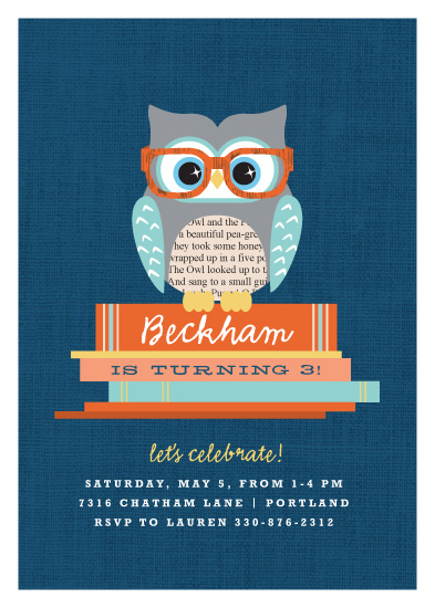 party invitations - Bookworm by Kristie Kern