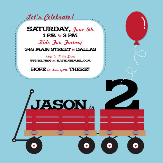 party invitations - Wagons for 2 by Megan Hain