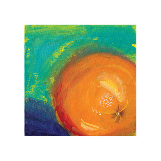 art prints - Orange on Blue by Lindsay Megahed