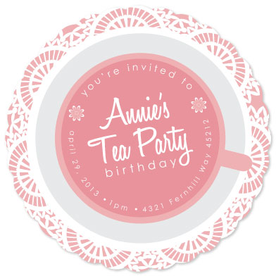 party invitations - Spot of Tea by Marie Day