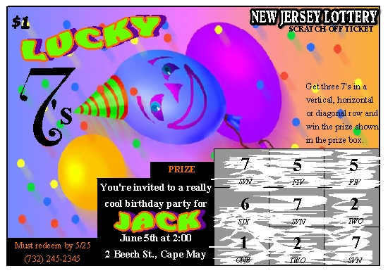 party invitations - Lucky 7 by Rose R.