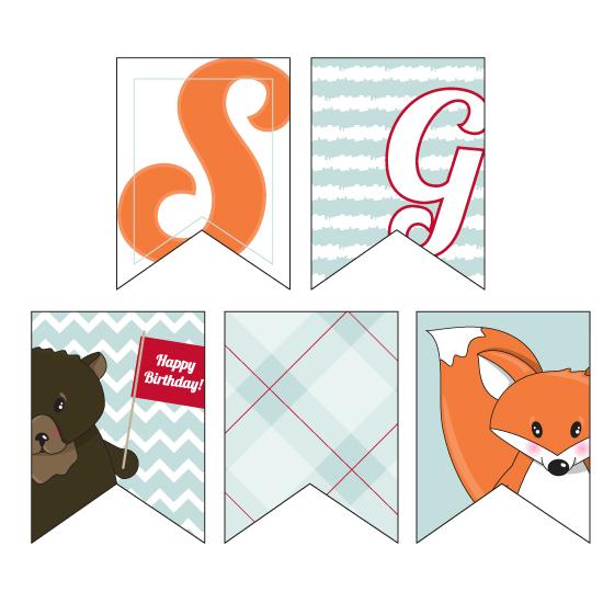party decor - Fox, Moose, and Bear birthday celebration by Malorie Landgreen