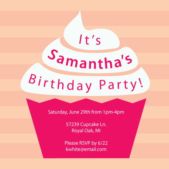 party invitations - Cupcake by Nicole C