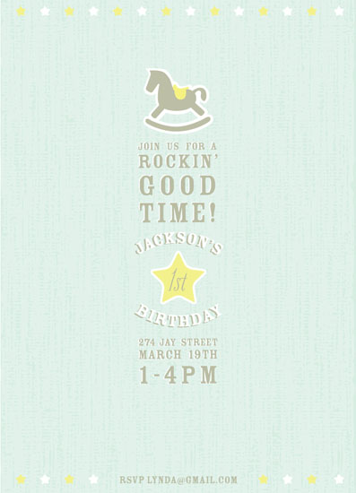 party invitations - Rockin 1 Year Old by Vanessa Wolfe