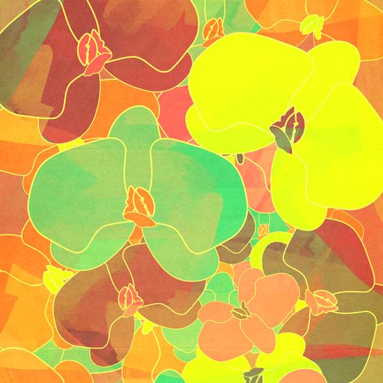 art prints - Flower Fall by Rebecca Allen