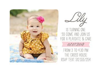Simple & Sweet Birthday Invitation