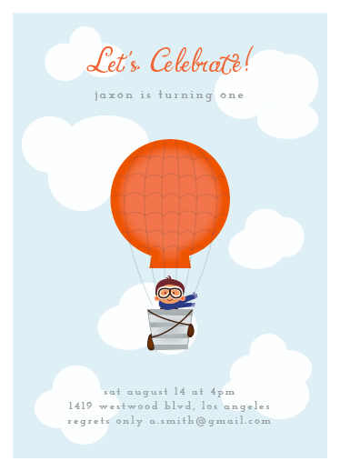 party invitations - Our little one by Giselle Zimmerman