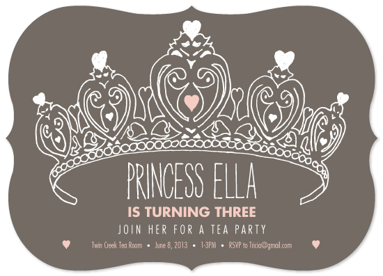 party invitations - princess tea by Ellie B