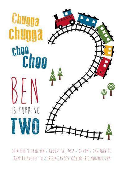 party invitations - Choo Choo Two by Ellie B