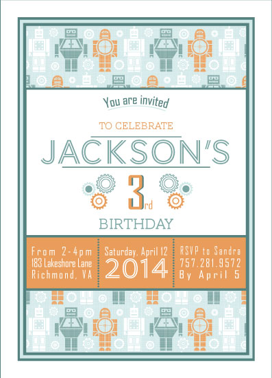 party invitations - Beep Boop Bop by sg designs