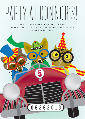 party invitations - Race Car Party by Chris Griffith