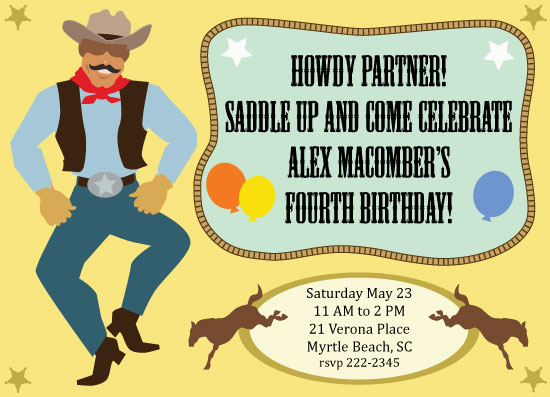 party invitations - Saddle Up by TeeEm