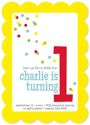 party invitations - Confetti Fun by Emily Welch