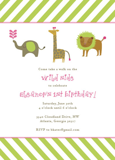 party invitations - a walk on the wild side by Callie Burnette