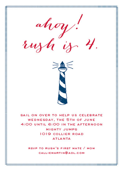 party invitations - ahoy mate by Callie Burnette