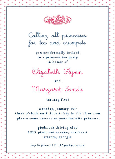 party invitations - commoners need not apply by Callie Burnette