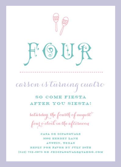 party invitations - fiesta por favor by Callie Burnette