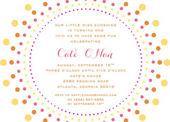 party invitations - little miss sunshine by Callie Burnette