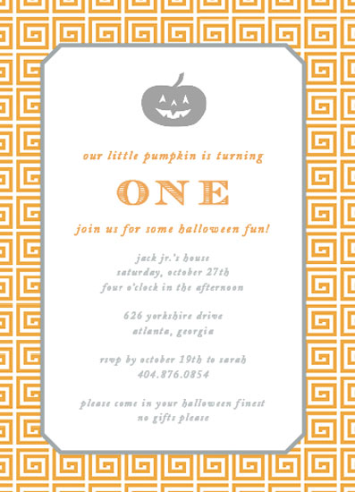 party invitations - little pumpkin by Callie Burnette
