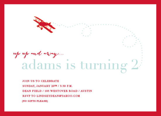 party invitations - prepare for takeoff by Callie Burnette