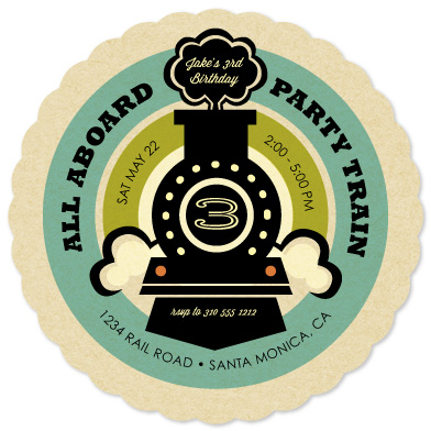 party invitations - Vintage Rail by Smudge Design