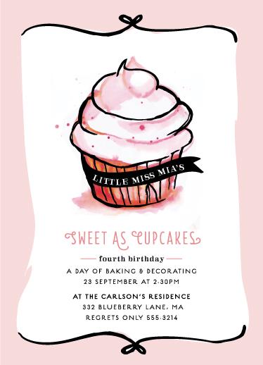 party invitations - Sweet As by Smeeta Sharma