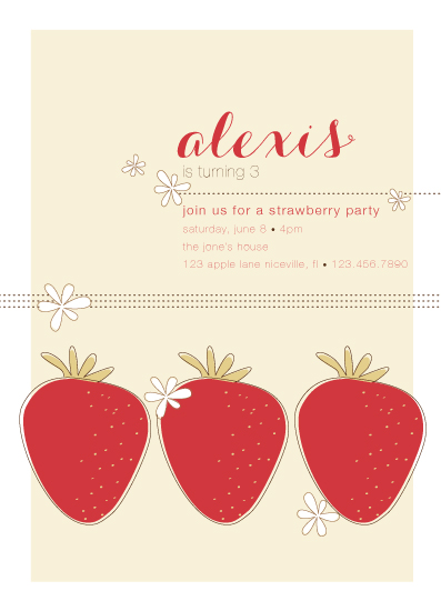 party invitations - Strawberry Party by Ashlee Proffitt