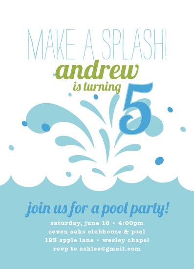 party invitations - Make a Splash!! by Ashlee Proffitt