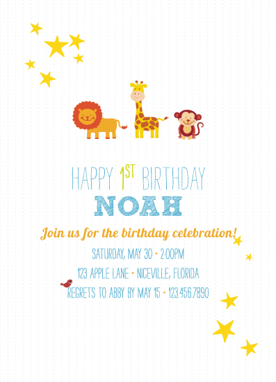 party invitations - Animals All Around! by Ashlee Proffitt