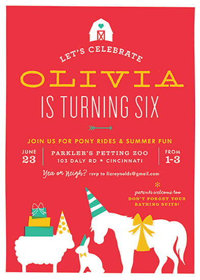 Party Invitations Farm Party Time At Minted Com