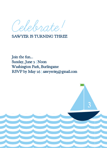 party invitations - Sail Away Invite by amandag