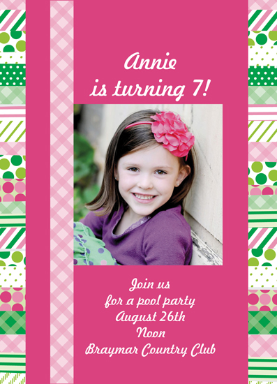 party invitations - Preppy Washi by Inez D - Atelier