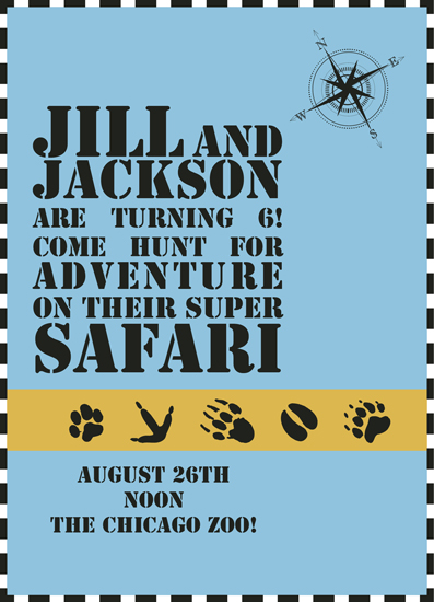 party invitations - Super Safari Invite by Inez D - Atelier