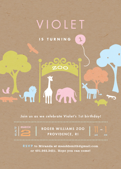 party invitations - Day at the zoo by Jennifer Wick