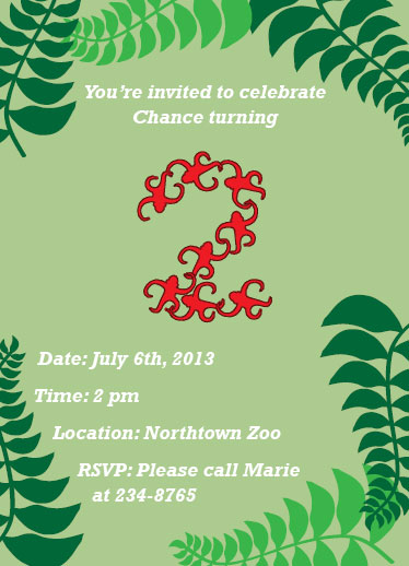 party invitations - Invited to Monkey Around by Brittani Mulvaney