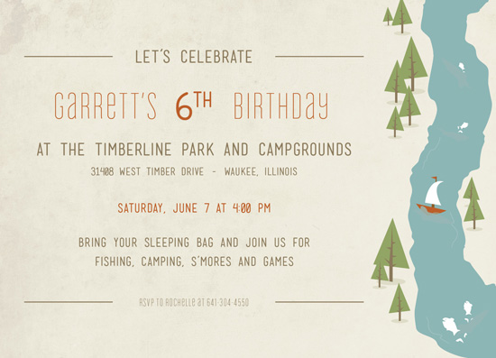 party invitations - Fish Tales & Campfires Celebration by AJCreative